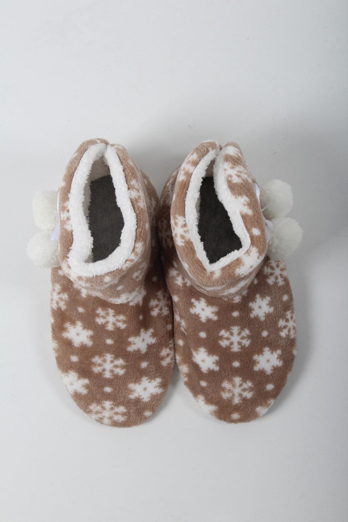 Oksit Giyim - Cihanbey 02 Kar Desen Tüylü Panduf